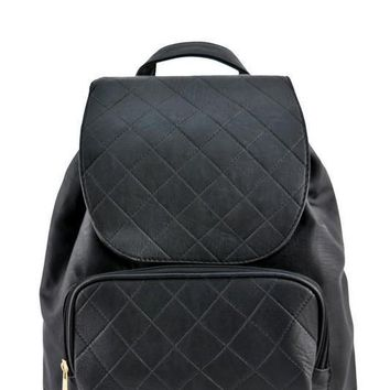 Black Blair Stitched Backpack