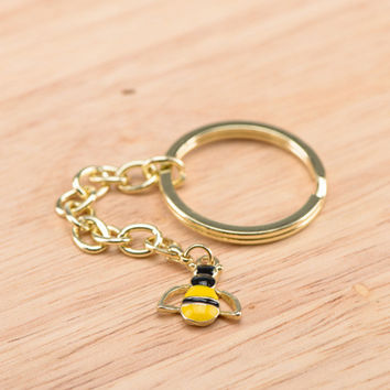 Honey Bee Charm with Key Ring