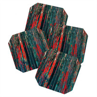 Caleb Troy Red Splinters Coaster Set