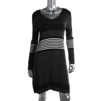 Spense Womens Petites Knit Sweaterdress