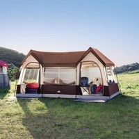Northwest Territory Big Sky Lodge Tent - Large 10 Person Family Tent with Closets and Rooms