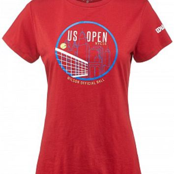 Wilson Women's US Open 2016 Skyline T-Shirt Red