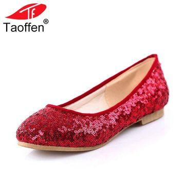 Women Bling Flats Glitters Round Toe Ballet Party shoes