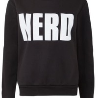 New Look Mobile | Parisian Black Nerd Sweater