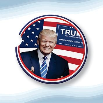 Trump 2020 President Car Cup Holder Coasters Sandstone (Set of 2)