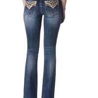 Miss Me Women's Indigo Wish You Well Jeans - Boot Cut