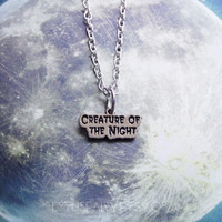 Creature of the Night necklace, tattoo choker, chain or cord 18mm x 7mm