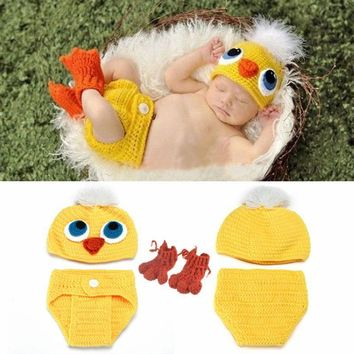 Yellow Chicks Baby Photo Prop Photography Set Infant Bunny/Chick Decoration Party Easter Costume