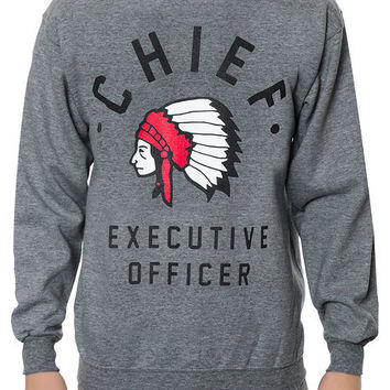 The Cashletes Chief Crewneck Sweatshirt in Heather Gray