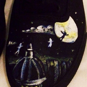 Hand Painted Peter Pan Shoes