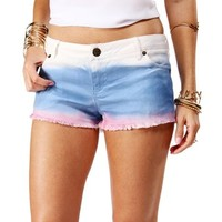 White Dip Dye Denim Shorts