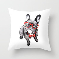 Happy Dog Throw Pillow by 13 Styx