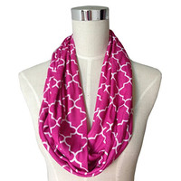 Pop Fashion Womens Infinity Scarf w/ Zipper Pocket & Pattern Print, Infinity Scarves