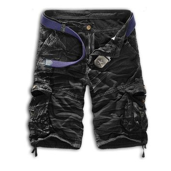 Hot 2017 Outdoor Summer Cargo Tactical Military Baggy Cotton Sport Camping Hiking Mountain climbing Army Shorts Men Plus Size