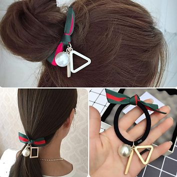 GUCCI Women Fashion Hairbands Hair Scrunchy Hairtie Elastic Ponytail Headwear Accessories