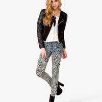 Quilted Sleeve Moto Jacket   FOREVER 21 - 2021839333