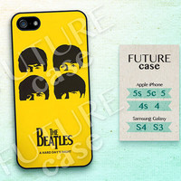 Beatles Head iPhone 4 Case,iPhone 4s Case,iPhone 4g Case, The Beatles Yellow icon Case or Rubber Case cover skin for iphone 4/4s/4g case
