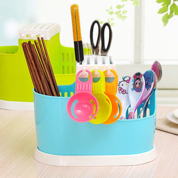 Creative Kitchen Storage Rack Plastic Set Chopsticks Basket [6034341953]