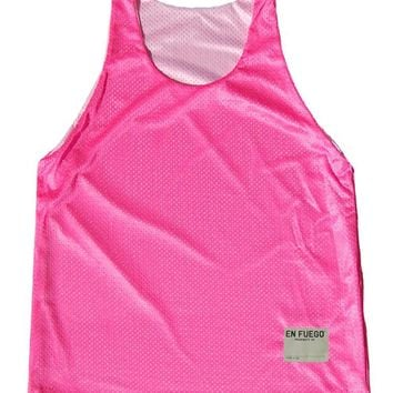 Neon Pink and White Basketball Reversible