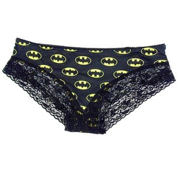 Batgirl Panty with Lace for Women