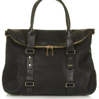 Flap Front Holdall - Black