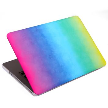 "HDE MacBook Pro 13"" Non-Retina Case Hard Shell Cover Designer Art Pattern - Fits Model A1278 (Watercolor Rainbow)"
