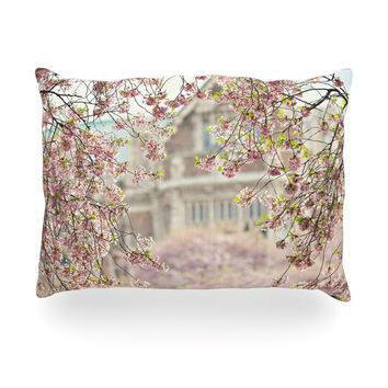 "Sylvia Cook ""Pink Dream"" Oblong Pillow"
