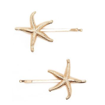 Starfish Bobby Pin Set