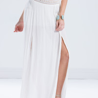 Ethereal World Slit Maxi Skirt