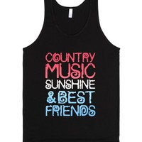 Country Music, Sunshine & Best Friends (Red White & Blue)-Tank
