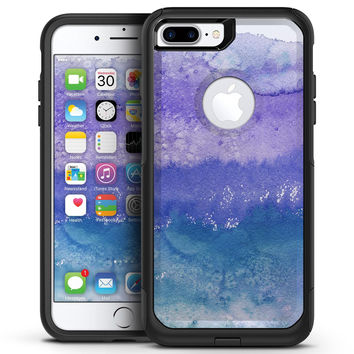 Purple & Blue Flowered - iPhone 7 or 7 Plus Commuter Case Skin Kit