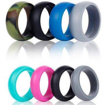 DCCKNY1 Syourself Silicone Wedding Ring Band for Men or Women-4 or 6 Pack-Safe Flexible Comfortable Medical Grade Love Rings- Fit for Sports, Outdoors+Gift Box