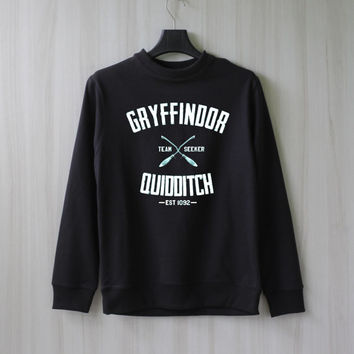 Gryffindor Quidditch Harry Potter Shirt Sweatshirt Sweater Shirt – Size XS S M L XL