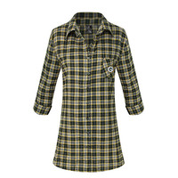 Green Bay Packers Ovation Flannel Nightshirt
