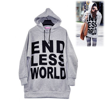 Women's Fashion Leisure Hoodies Jacket Sweatshirt Outerwear  2306 (Size: XL, Color: Grey)