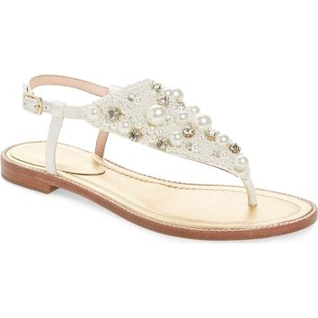 kate spade new york sama embellished thong sandal (Women) | Nordstrom