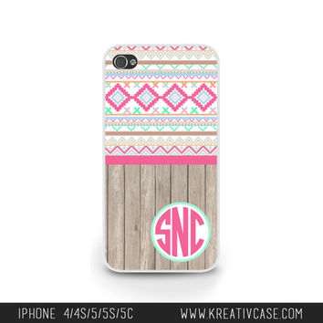 Aztec iPhone cases, iPhone 4 Case, iPhone 5 case, iPhone 4S, Tribal design and wood Phone Case, Personalized iPhone Cover, iPhone 5C - K267