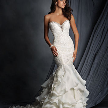 Alfred Angelo 2527 Strapless Ruffle Mermaid Wedding Dress