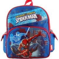 MARVEL SPIDERMAN TODDLER BACKPACK - CITY PATROL,TODDLER,Blue/Red