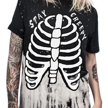 CB| Chicloth Women T-shirt Short Sleeve Top Halloween Costumes