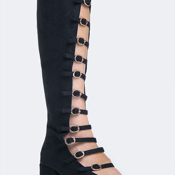 Strappy Knee High Pump
