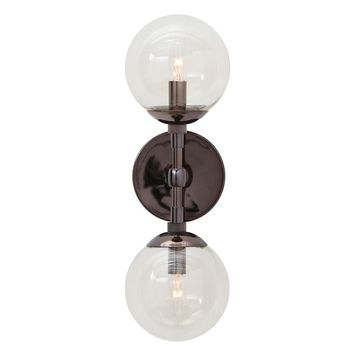 Polaris Brown Nickel Sconce