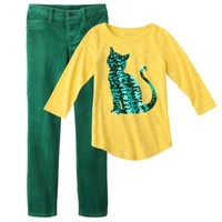 Girls' Cat Sweater Outfit