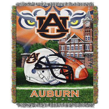 Auburn Tigers NCAA Woven Tapestry Throw (Home Field Advantage) (48x60)