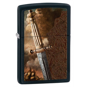 Zippo Sword of War Black Matte Lighter