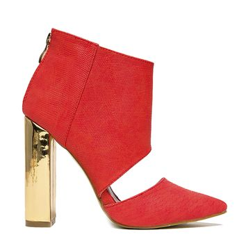 BAD GIRL CUT OUT BOOTIE - RED