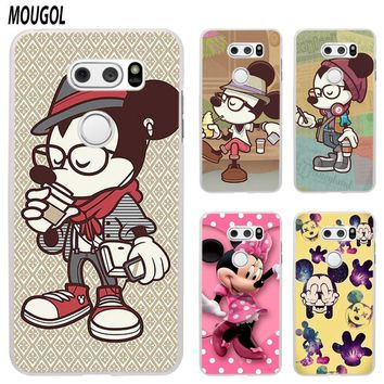 MOUGOL Colorful  Mickey Minnie Mouse Hipster design transparent hard Phone Case cover for LG Q6 G3 G4 G5 G6 G6Mini V10 V20 V30