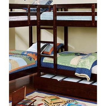 Hannah Cappuccino Corner Quadruple Bunk Bed