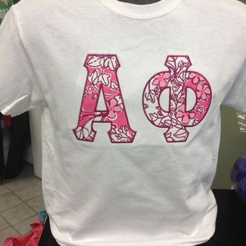 ALMOST SOLD OUT Alpha Phi Lilly Pulitzer Letter Shirt on Comfort Colors