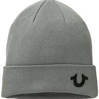 True Religion Men's Knit Cotton Watchcap, Factory Grey, One Size
